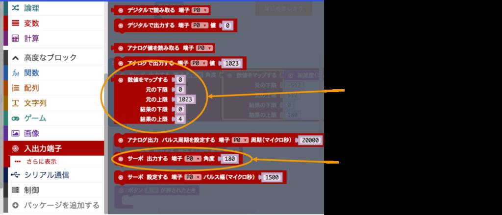 サーボモータ用の命令
